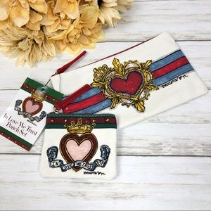 Brighton In Love We Trust Pouch Set Canvas